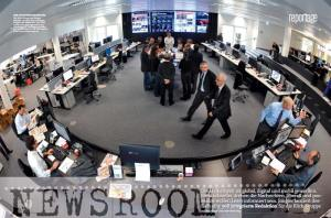 Blick in den neuen Newsroom der Blick-Gruppe, Zürich